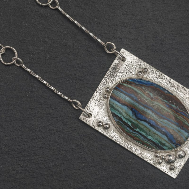 Rainbow Casilica Pendant and chain