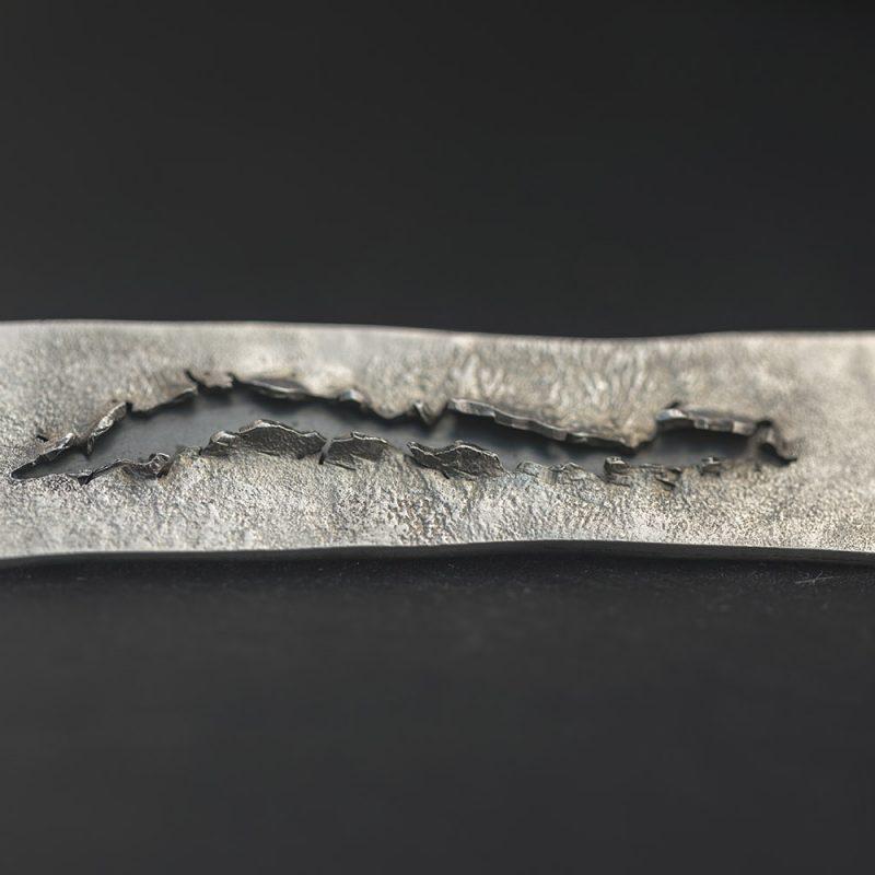 Long 'Fissure' Brooch